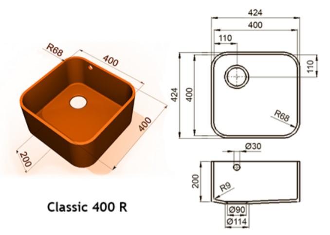 400r - Интегрированные мойки