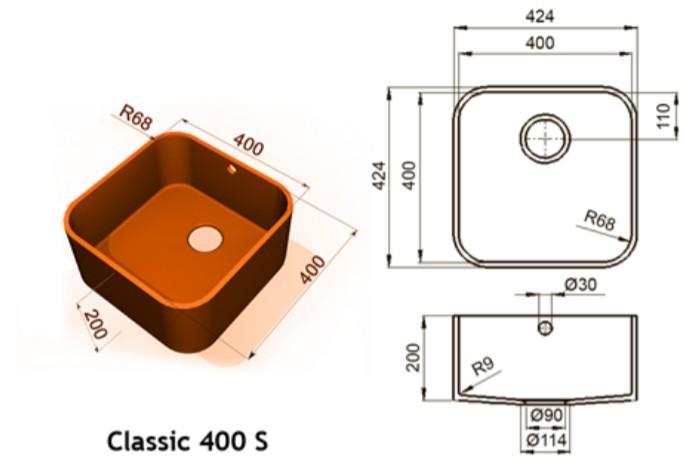400s - Интегрированные мойки