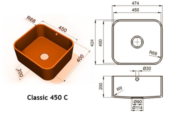 450c - Интегрированные мойки