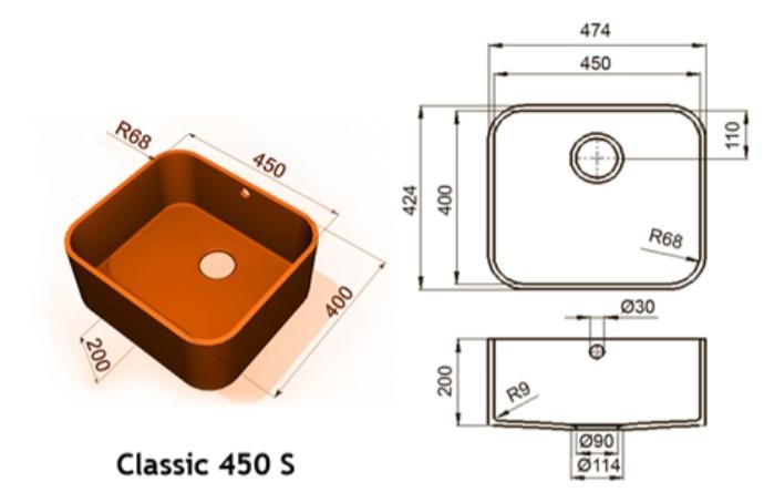 450s - Интегрированные мойки