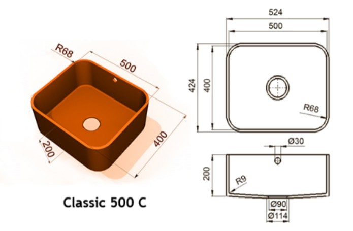 500c - Интегрированные мойки