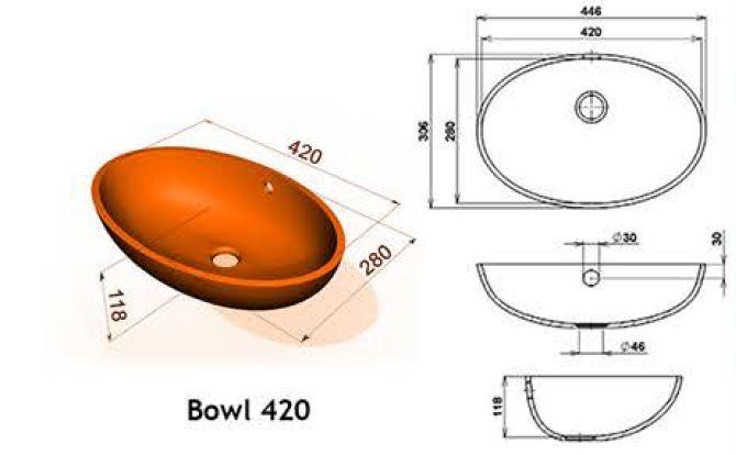 Bowl 420 - Интегрированные мойки