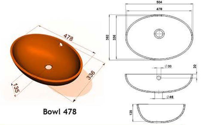 Bowl 478 - Интегрированные мойки