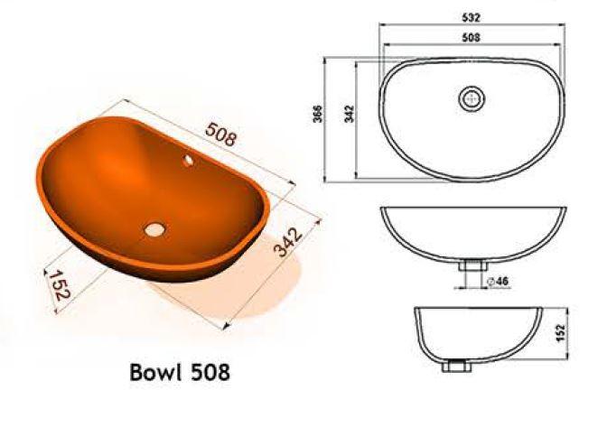 Bowl 508 - Интегрированные мойки