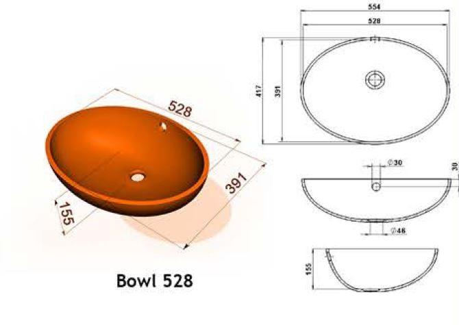 Bowl 528 - Интегрированные мойки