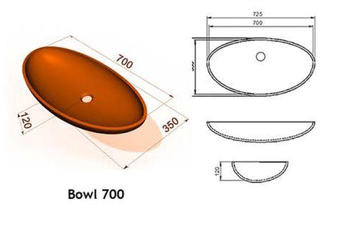Bowl 700 - Интегрированные мойки