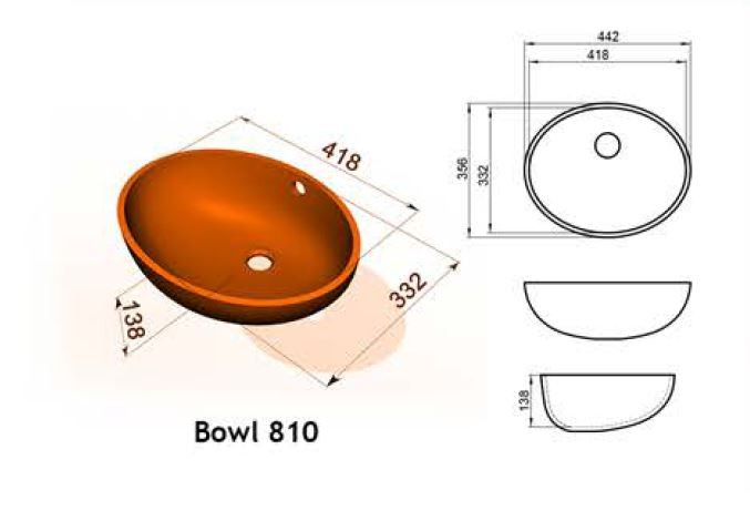 Bowl 810 - Интегрированные мойки