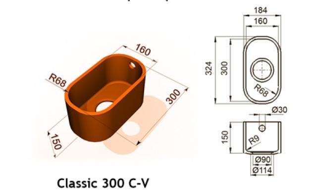 Classic 300 C V - Интегрированные мойки