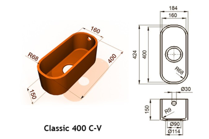 Classic 400 C V - Интегрированные мойки