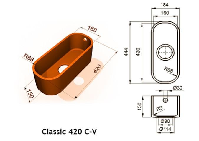 Classic 420 C V - Интегрированные мойки