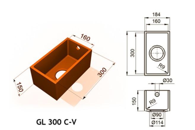 GL 300 C V - Интегрированные мойки