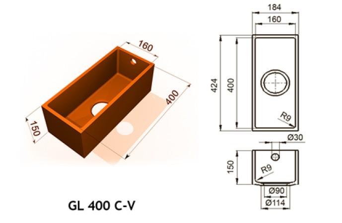 GL 400 C V - Интегрированные мойки