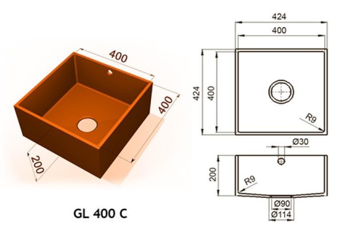 GL 400 C - Интегрированные мойки