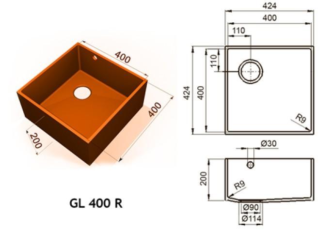 GL 400 R - Интегрированные мойки