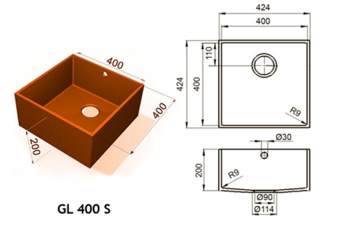GL 400 S - Интегрированные мойки