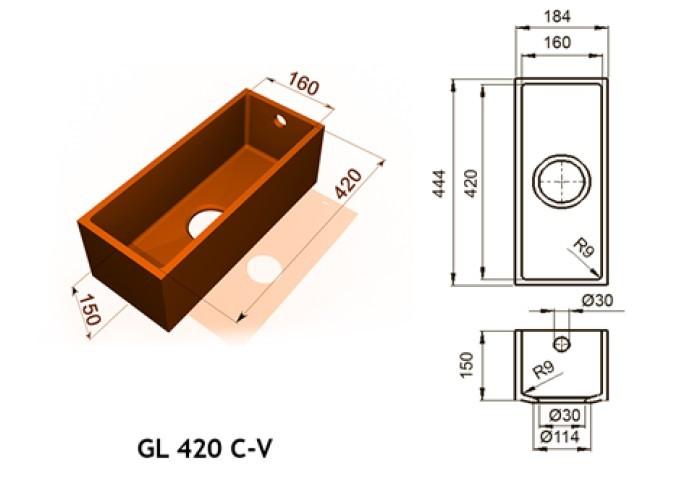 GL 420 C V - Интегрированные мойки
