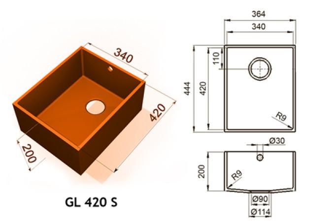 GL 420 S - Интегрированные мойки