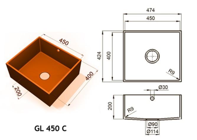 GL 450 C - Интегрированные мойки
