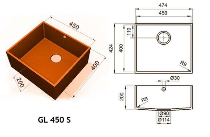GL 450 S - Интегрированные мойки