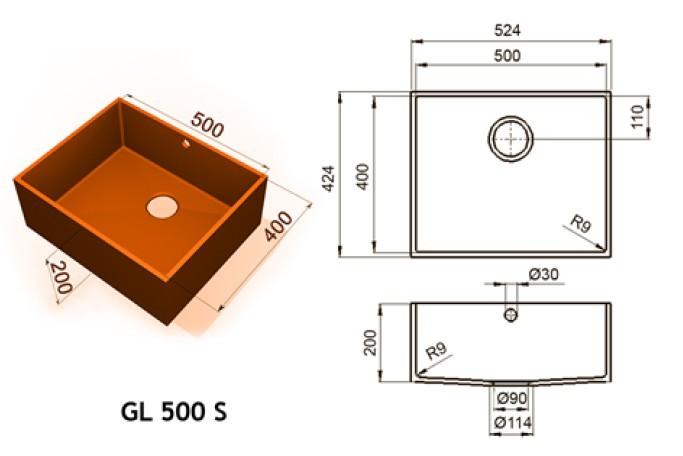 GL 500 S - Интегрированные мойки